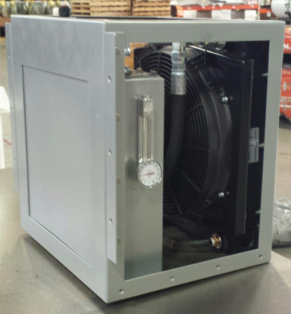 Compact Hydraulic Oil Coolers : Harrison hydra qube hydraulic oil cooler jubertequipment