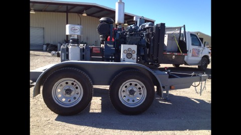 Tuthill T850 Blower Pkg w Diesel on Trailer